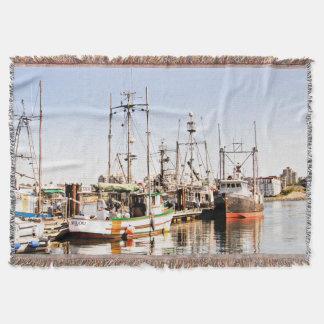 Fishing Boat Vessel Throw Blanket