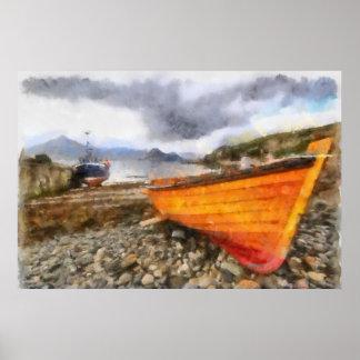 Fishing boats at Elgol Poster