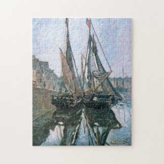 Fishing Boats at Honfleur 1868 Monet Fine Art Jigsaw Puzzle