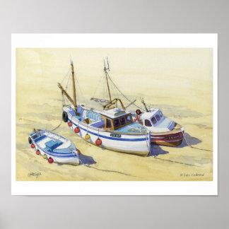 Fishing boats at St Ives, Cornwall Poster