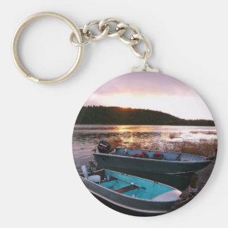 Fishing Boats at Sundown Keychains