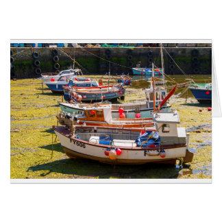 Fishing Boats at tides out Card