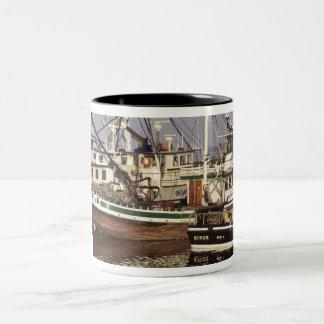 Fishing Boats at Westport WA Two-Tone Coffee Mug