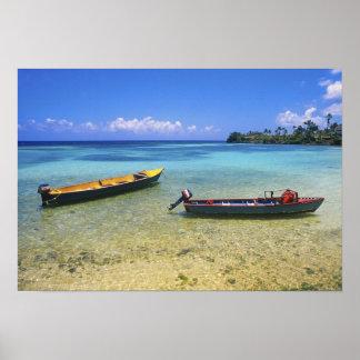 Fishing Boats, Boston Beach, Port Antonio, Poster
