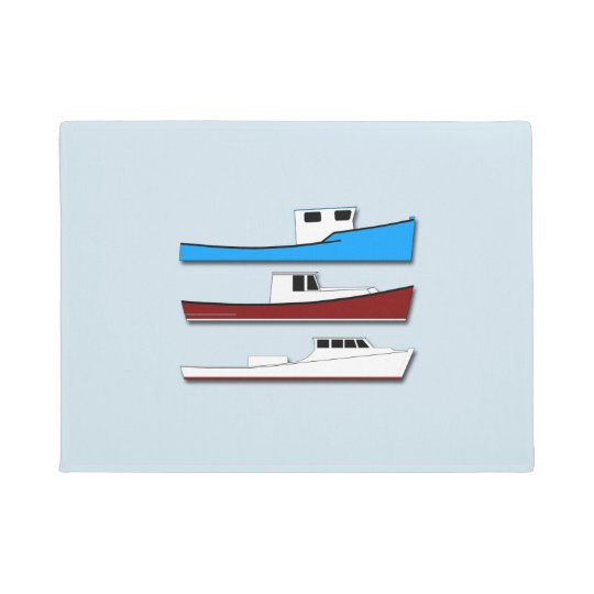 Fishing Boats Doormat