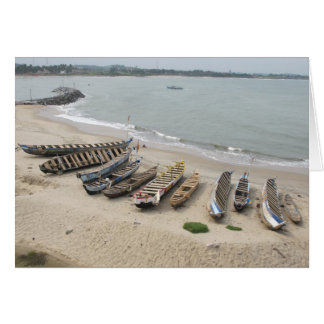 Fishing Boats in Elmina, Ghana Card