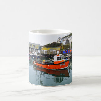 Fishing boats in Mevagissey harbour Coffee Mug