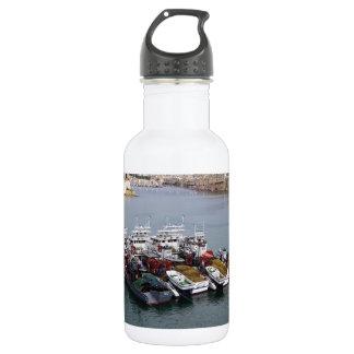 Fishing Boats In Valletta 532 Ml Water Bottle