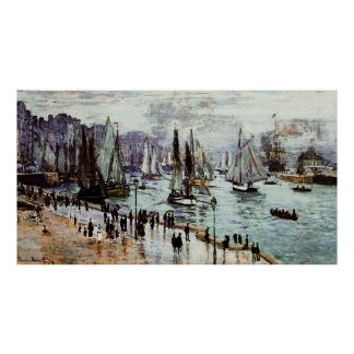 Fishing Boats Leaving the Port of Le Havre,1874 Posters