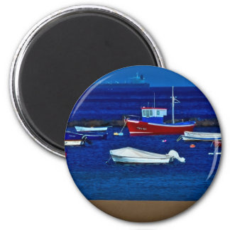 Fishing boats magnet