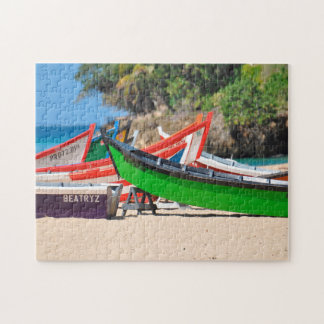 Fishing Boats on a Beach Puerto Rico. Jigsaw Puzzle