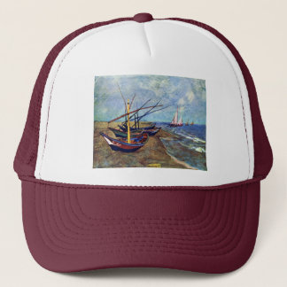 Fishing Boats On The Beach At Saintes-Maries, Fish Trucker Hat