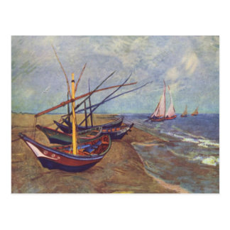 Fishing Boats on the Beach at Saintes-Maries Postcard