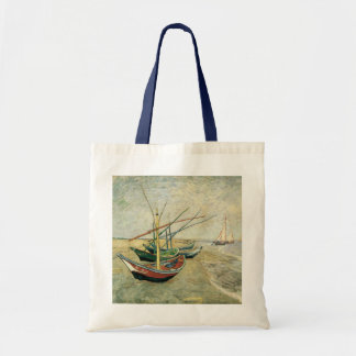 Fishing Boats on the Beach by Vincent van Gogh Bag