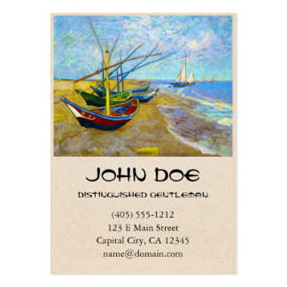 Fishing Boats on the Beach by Vincent Van Gogh Pack Of Chubby Business Cards