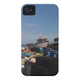 Fishing Boats On The Beach iPhone 4 Covers
