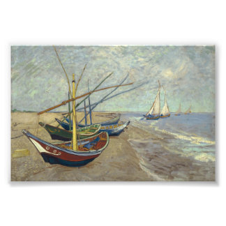 Fishing boats on the beach photograph