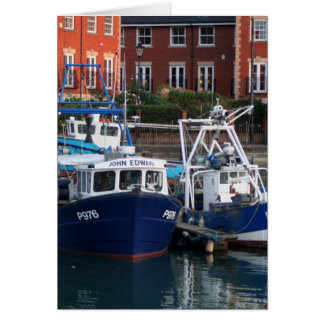 Fishing boats, Portsmouth, England Card