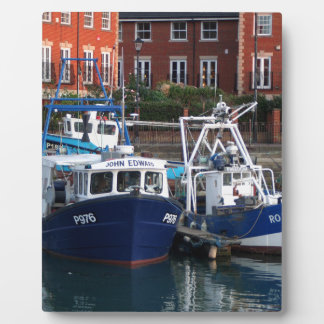 Fishing boats, Portsmouth, England Plaque