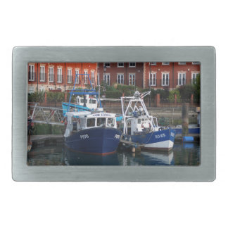 Fishing boats, Portsmouth, England Rectangular Belt Buckles