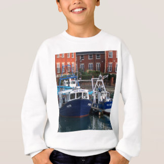Fishing boats, Portsmouth, England Sweatshirt
