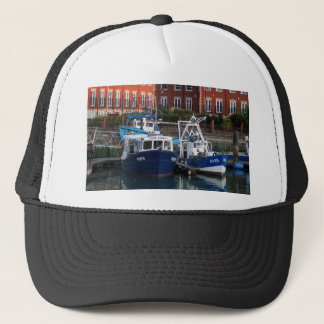 Fishing boats, Portsmouth, England Trucker Hat