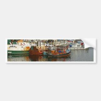 Fishing Boats Ships Bumper Sticker