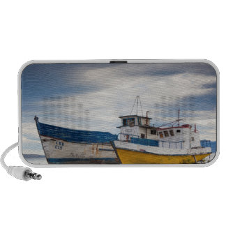 Fishing boats notebook speakers
