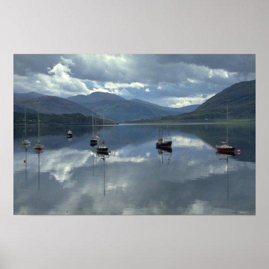 Fishing boats, Ullapool, Scotland Poster
