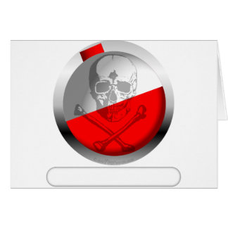 Fishing Bobber Skull and Crossbones Greeting Card