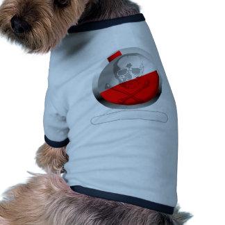 Fishing Bobber Skull and Crossbones Ringer Dog Shirt