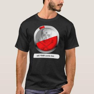 Fishing Bobber Skull and Crossbones T-Shirt