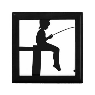 Fishing Boy Silhouette Gift Box