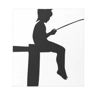 Fishing Boy Silhouette Notepad