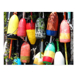 Fishing Buoys- Maine Postcard