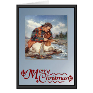 Fishing by the river card