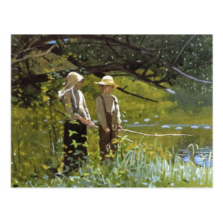 Fishing by Winslow Homer Postcard
