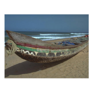 Fishing canoe on Keta Beach, Ghana Postcard