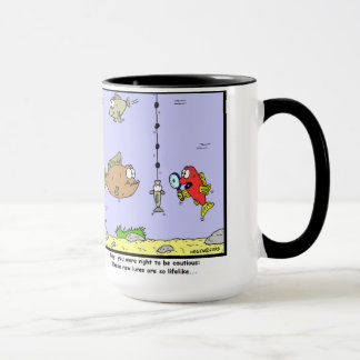Fishing Cartoon: Lures Mug