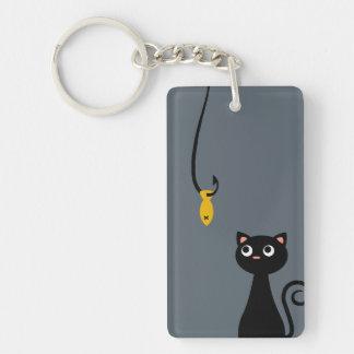 Fishing Cat Double-Sided Rectangular Acrylic Key Ring