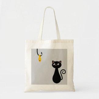 Fishing Cat Tote Bag