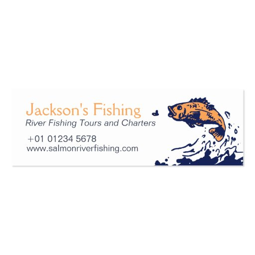 Fishing charters admit one skinny business card zazzle for Fishing charter business cards