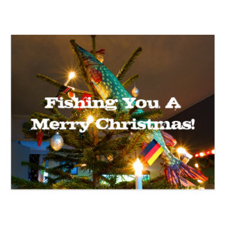 Fishing Christmas card