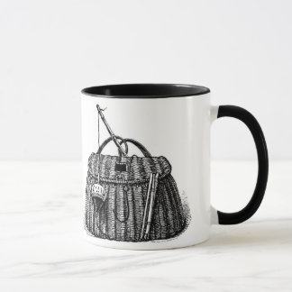 Fishing Creel Basket and Gear Mug
