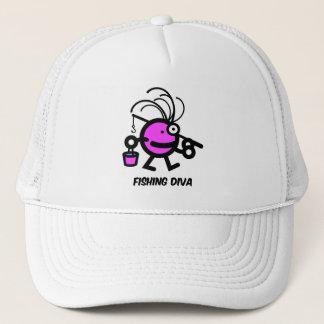fishing diva trucker hat