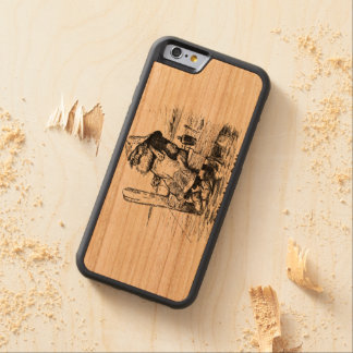 Fishing Early to bed Make up lies Carved Cherry iPhone 6 Bumper Case