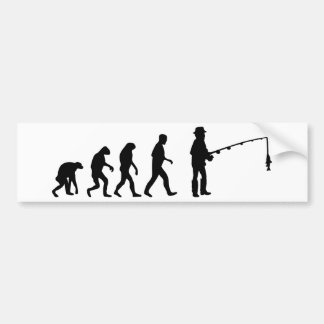 fishing evolution bumper sticker