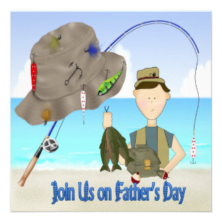 Fishing Father's Day Party Invitations