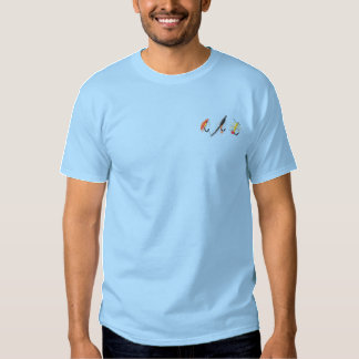 Fishing Flies Embroidered T-Shirt
