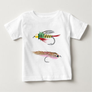 Fishing Flies lures Bug and Minnow Baby T-Shirt